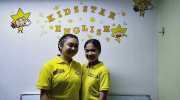 Teacher Edah and Andrea